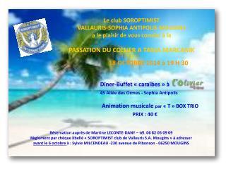 Dîner-Buffet «caraïbes» à 45 Allée des Ormes - Sophia Antipolis