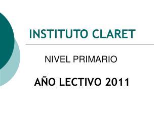 INSTITUTO CLARET