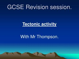GCSE Revision session.