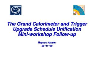 The Grand Calorimeter and Trigger Upgrade Schedule Unification Mini-workshop Follow-up