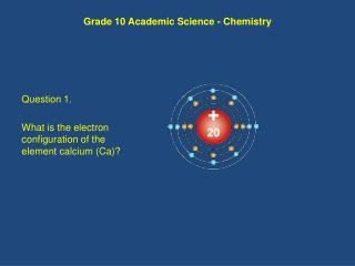 Grade 10 Academic Science - Chemistry