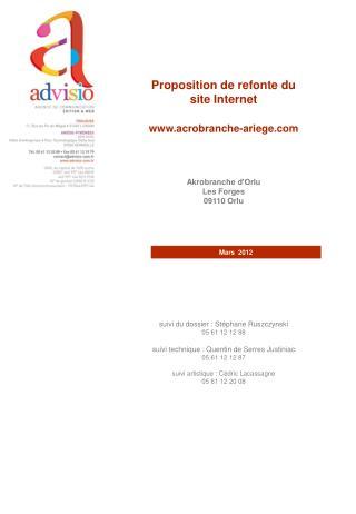 Proposition de refonte du site Internet  acrobranche-ariege Akrobranche d'Orlu Les Forges