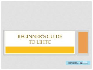 Beginner's Guide  to LIHTC