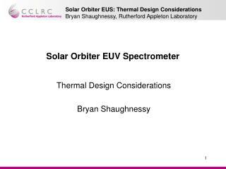Solar Orbiter EUV Spectrometer