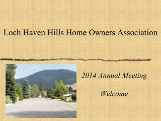 Loch Haven Hills Home Owners Association