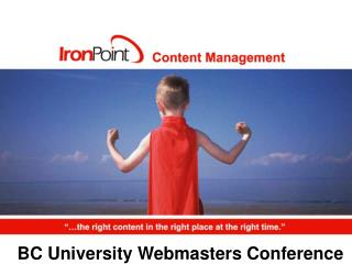 BC University Webmasters Conference