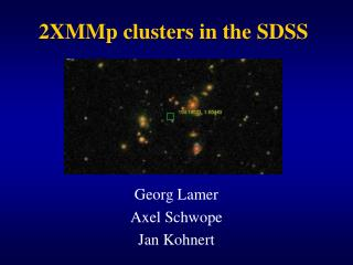 2XMMp clusters in the SDSS