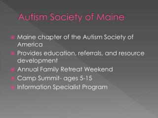 Autism Society of Maine