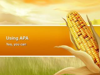 Using APA