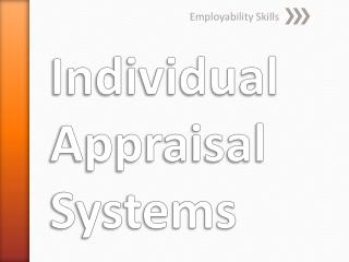Individual Appraisal Systems