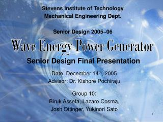 Senior Design Final Presentation