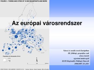 Az európai városrendszer