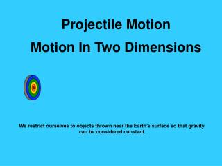 Projectile Motion Motion In Two Dimensions