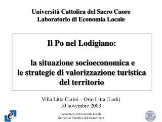 Università Cattolica del Sacro Cuore Laboratorio di Economia Locale