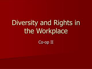 Diversity and Rights in the Workplace