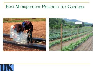 Best Management Practices for Gardens