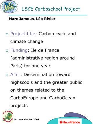 LSCE Carboschool Project
