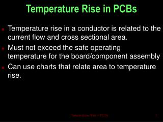 Temperature Rise in PCBs