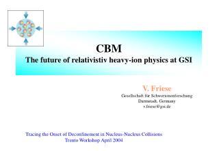 CBM The future of relativistiv heavy-ion physics at GSI
