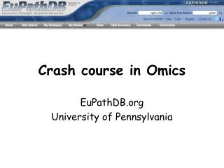 Crash course in Omics