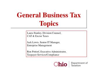 General Business Tax Topics