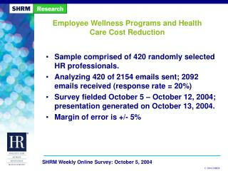 Employee Wellness Programs and Health Care Cost Reduction