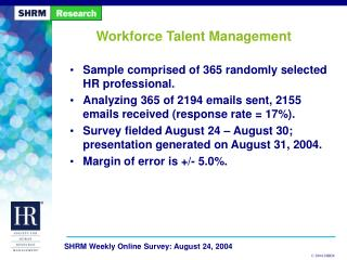 Workforce Talent Management
