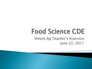 Food Science CDE