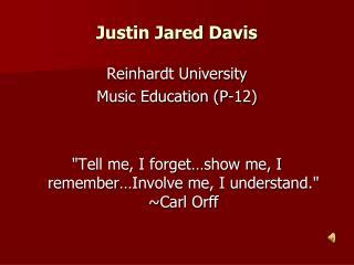 Justin Jared Davis