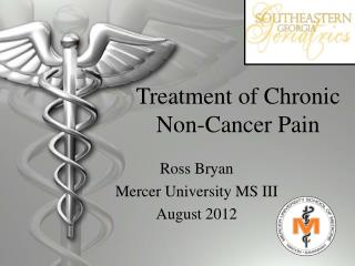 Treatment of Chronic Non-Cancer Pain