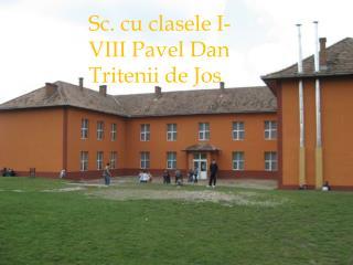 Sc. cu  clasela  I-VIII  Pavel Dan