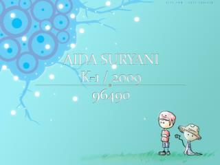 AIDA SURYANI K-1 / 2009 96490