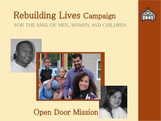 Rebuilding Lives  Campaign