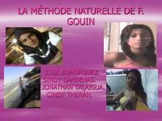 LA M THODE NATURELLE DE F. GOUIN