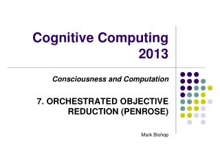 Cognitive Computing 2013