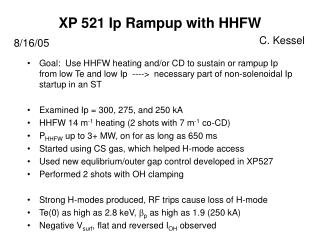 XP 521 Ip Rampup with HHFW