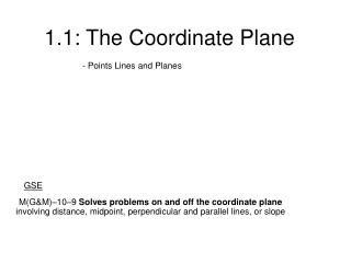 1.1: The Coordinate Plane