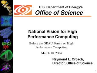 National Vision for High Performance Computing