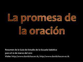 La promesa de la oración