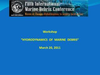 """Workshop """"HYDRODYNAMICS  OF  MARINE  DEBRIS"""" March 20, 2011"""