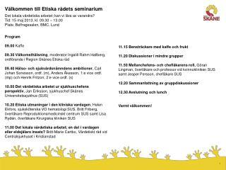 Välkommen till Etiska rådets seminarium