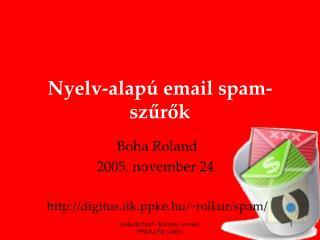 Nyelv-alapú email spam-szűrők