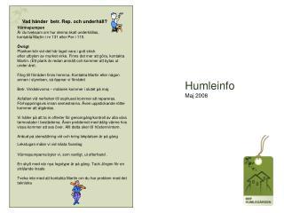 Humleinfo Maj 2008