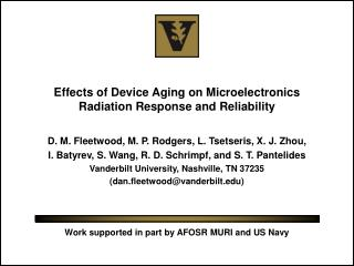 Effects of Device Aging on Microelectronics Radiation Response and Reliability