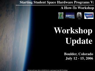Workshop Update