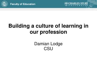 Building a culture of learning in our profession
