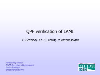 QPF verification of LAMI