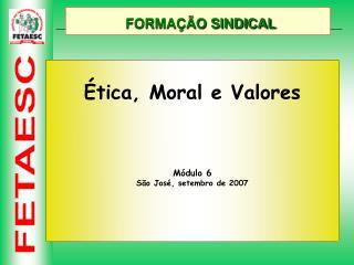 FORMAÇÃO SINDICAL