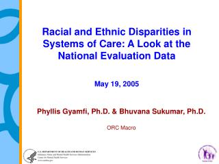 Racial and Ethnic Disparities in Systems of Care: A Look at the National Evaluation Data