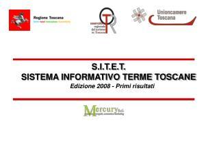 S.I.T.E.T. SISTEMA INFORMATIVO TERME TOSCANE